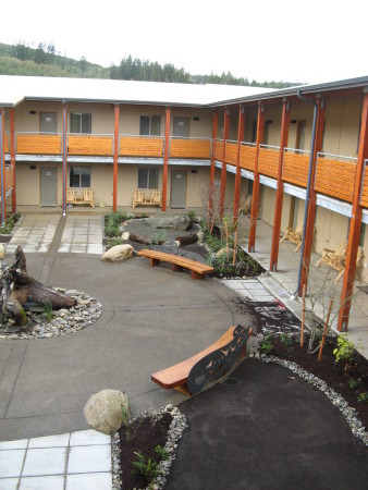 Sail River Longhouse Courtyard